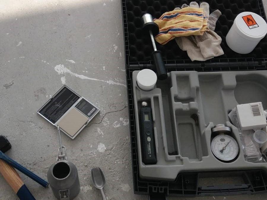 Măsurarea umidității cu carbid